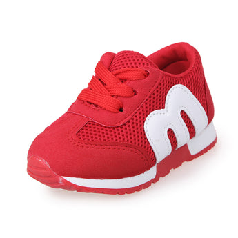 M Letter Mesh Casual Shoes