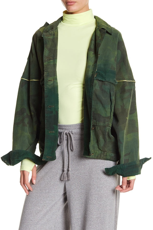 Slouchy Military Jacket