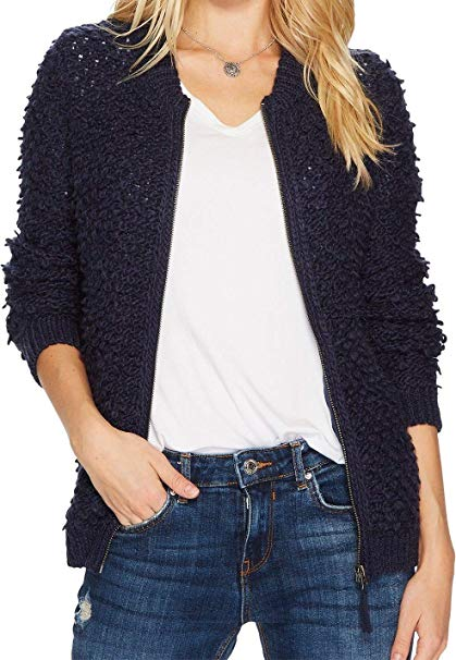Lucky Brand Women's Sweater Bomber
