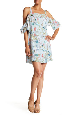 Primrose Cold Shoulder Floral Print Dress