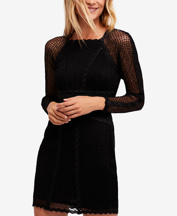 Free People Juniors Mixed-Mesh Illusion