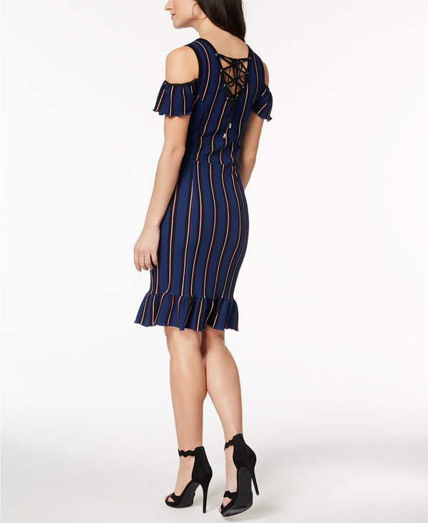 Juniors' Cold-Shoulder Bodycon Dress