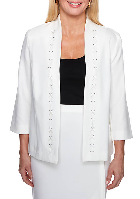 Roman Holiday Diamond Cutout Jacket