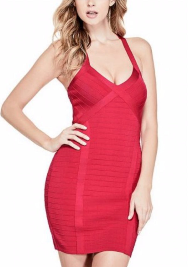 MIRAGE CRISSCROSS CUTOUT DRESS