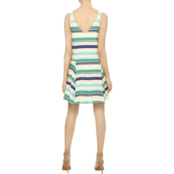 Harlow Striped Double V Neck Casual Dress