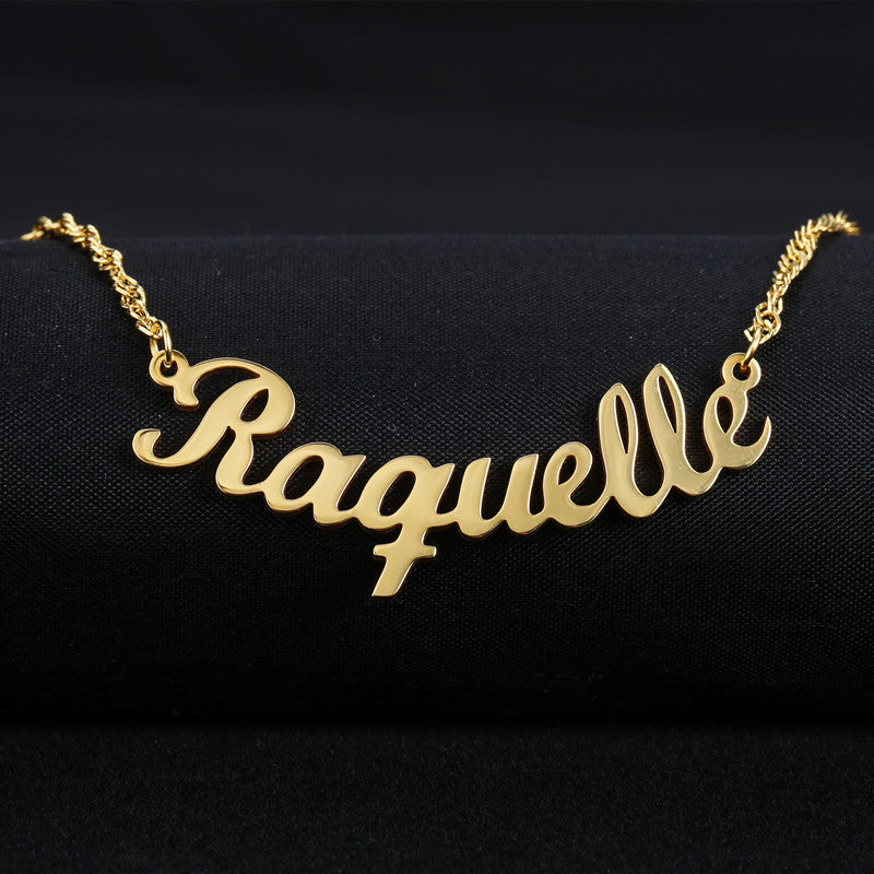 Name Charm Necklace