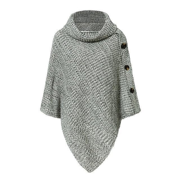 ELEGANT KNITTED TURTLENECK CLOCK SWEATER