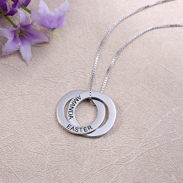 Customized Russian Double Circle Necklace