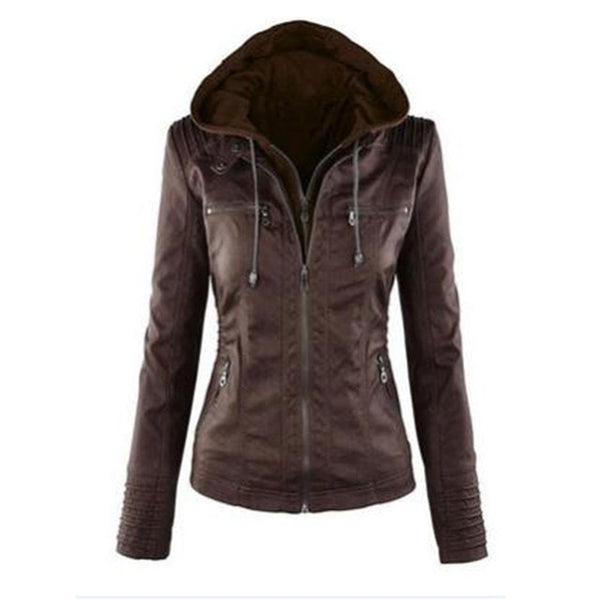 SLIM ZIPPER HOODED COAT