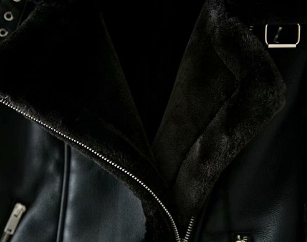 LMAB FUR COLLAR BOMBER