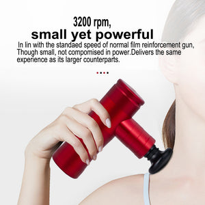 Portable Muscle Massage Gun, Massage Gun for Athletes, Percussive Muscle Stimulation Device, Exerscribe Personal Percussion Massage Gun, Power Massager Handheld for Muscles