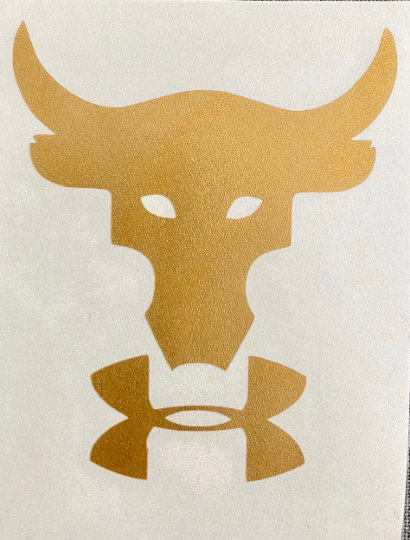 poco Espera un minuto residuo  Project Rock Bull with under armour-Decal Logo Sticker | eBay