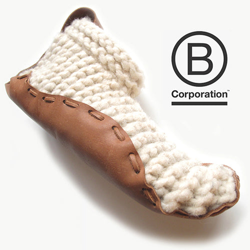 House Shoes - Organic Leather & Wool