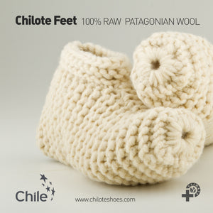 Raw Wool Feet Slippers