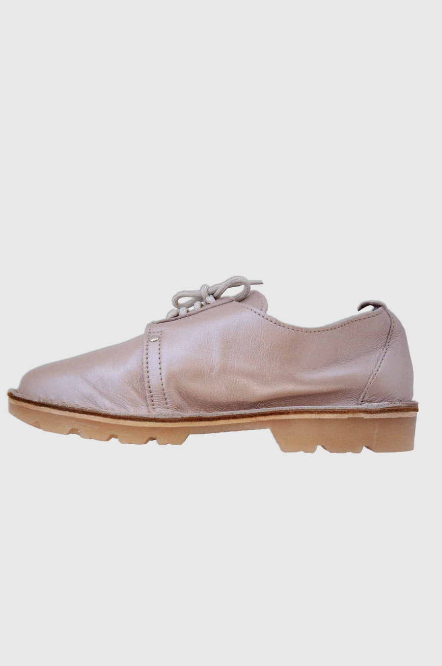 SHOES | SIDE LACE UP VELLIES | ROSE GOLD