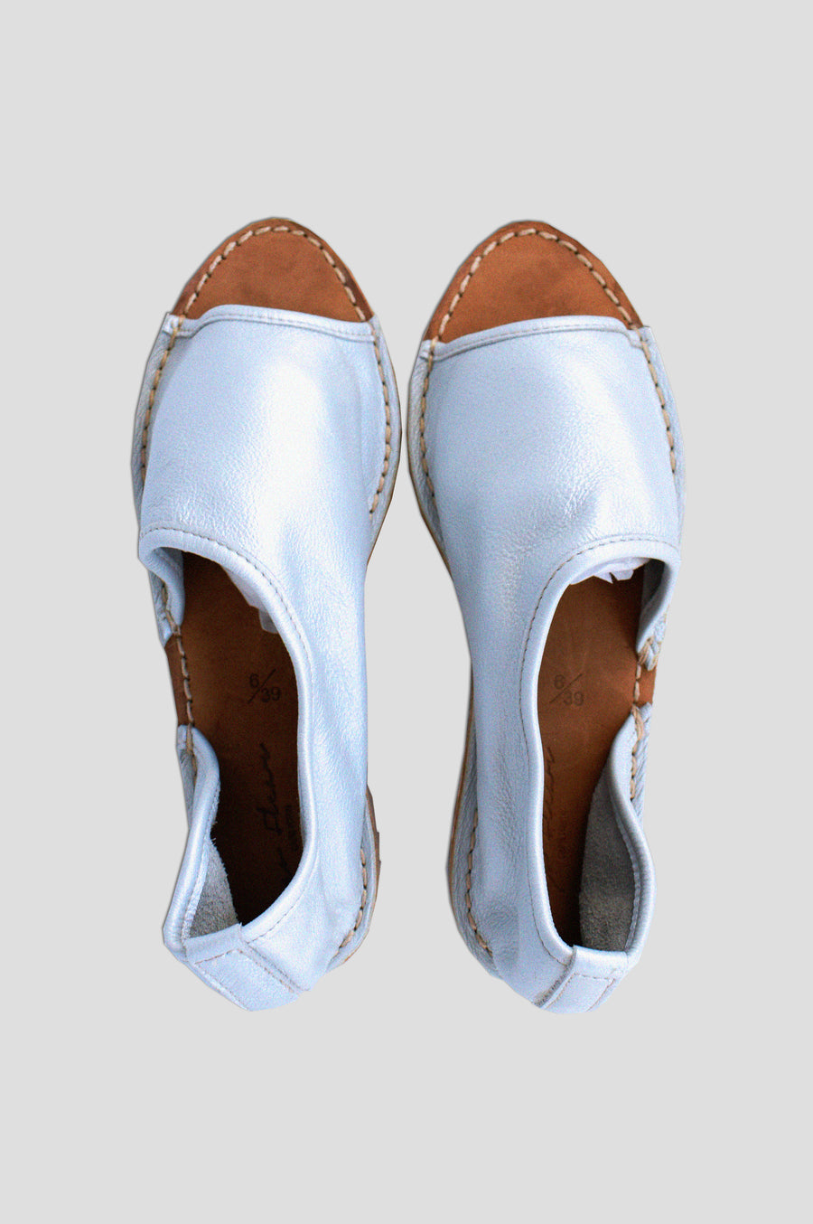 SHOES | JUDY OPEN TOE SLIP ON | SILVER