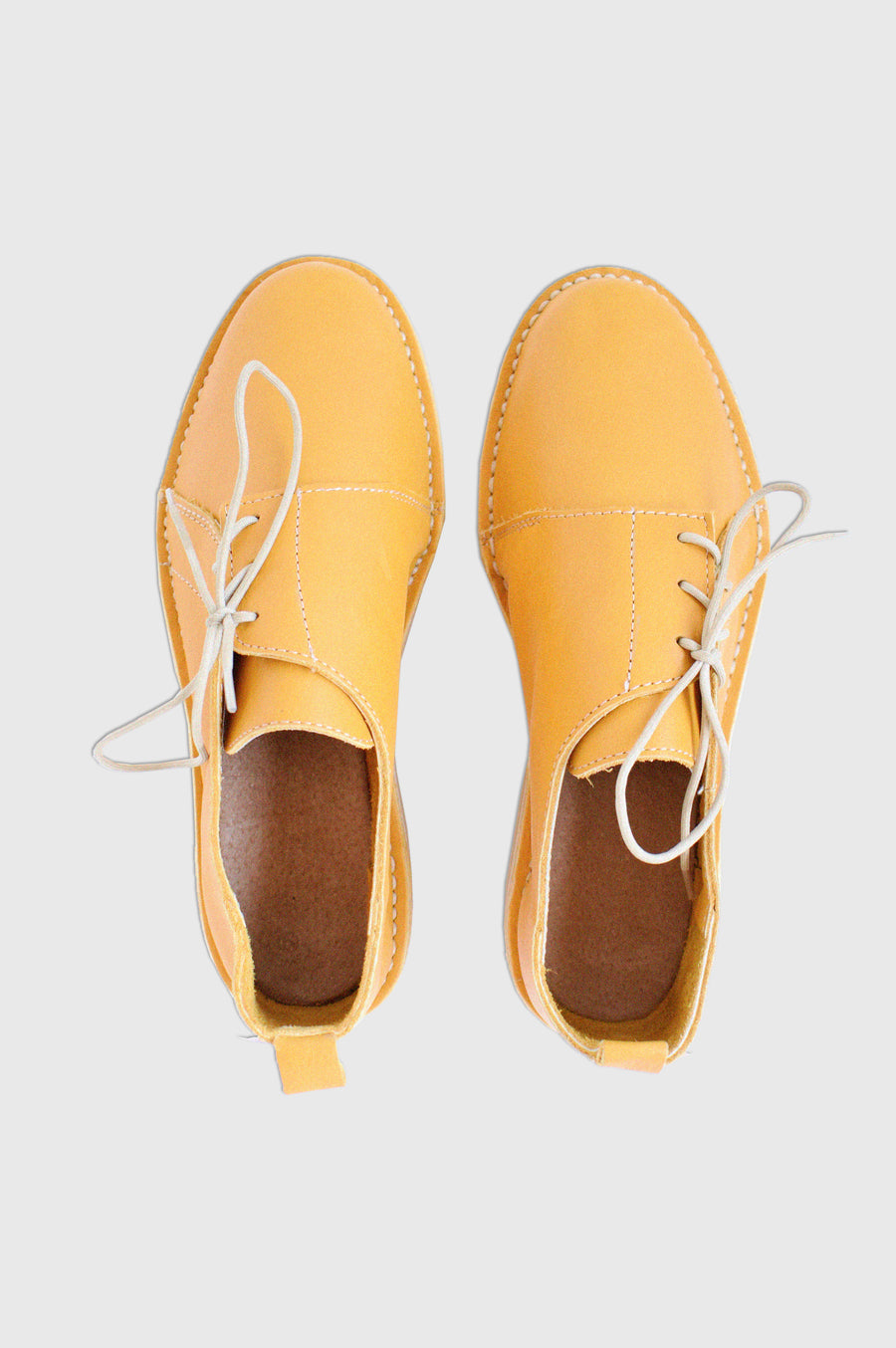 SHOES | SIDE TIE VELLIES | MUSTARD