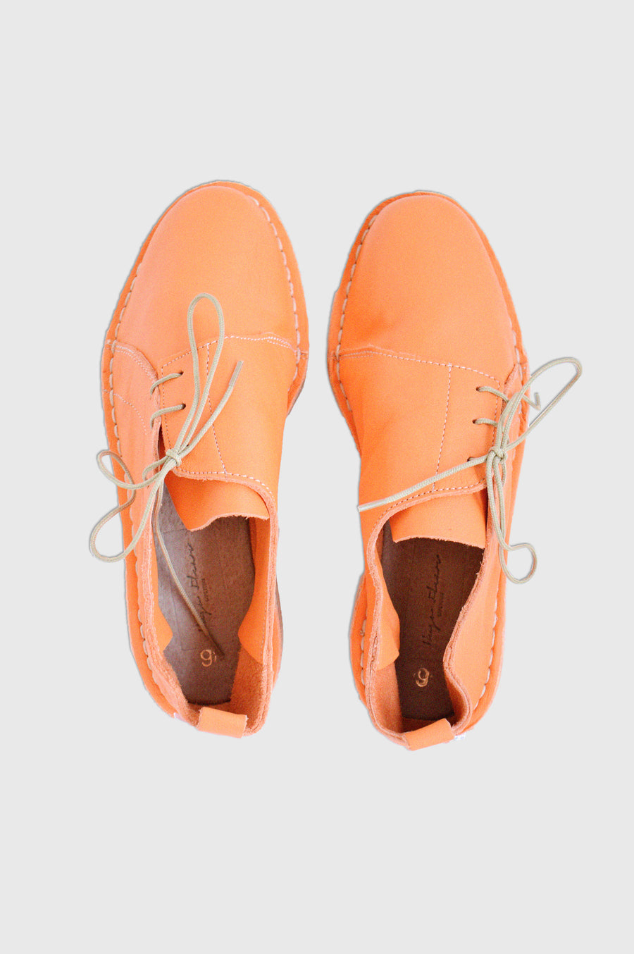 SHOES | SIDE TIE VELLIES | NEON ORANGE
