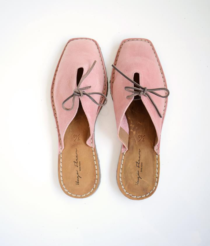 SALE: SHOES INGRID SQUARE TOE SANDALS SLIP ON - PINK was R 1000