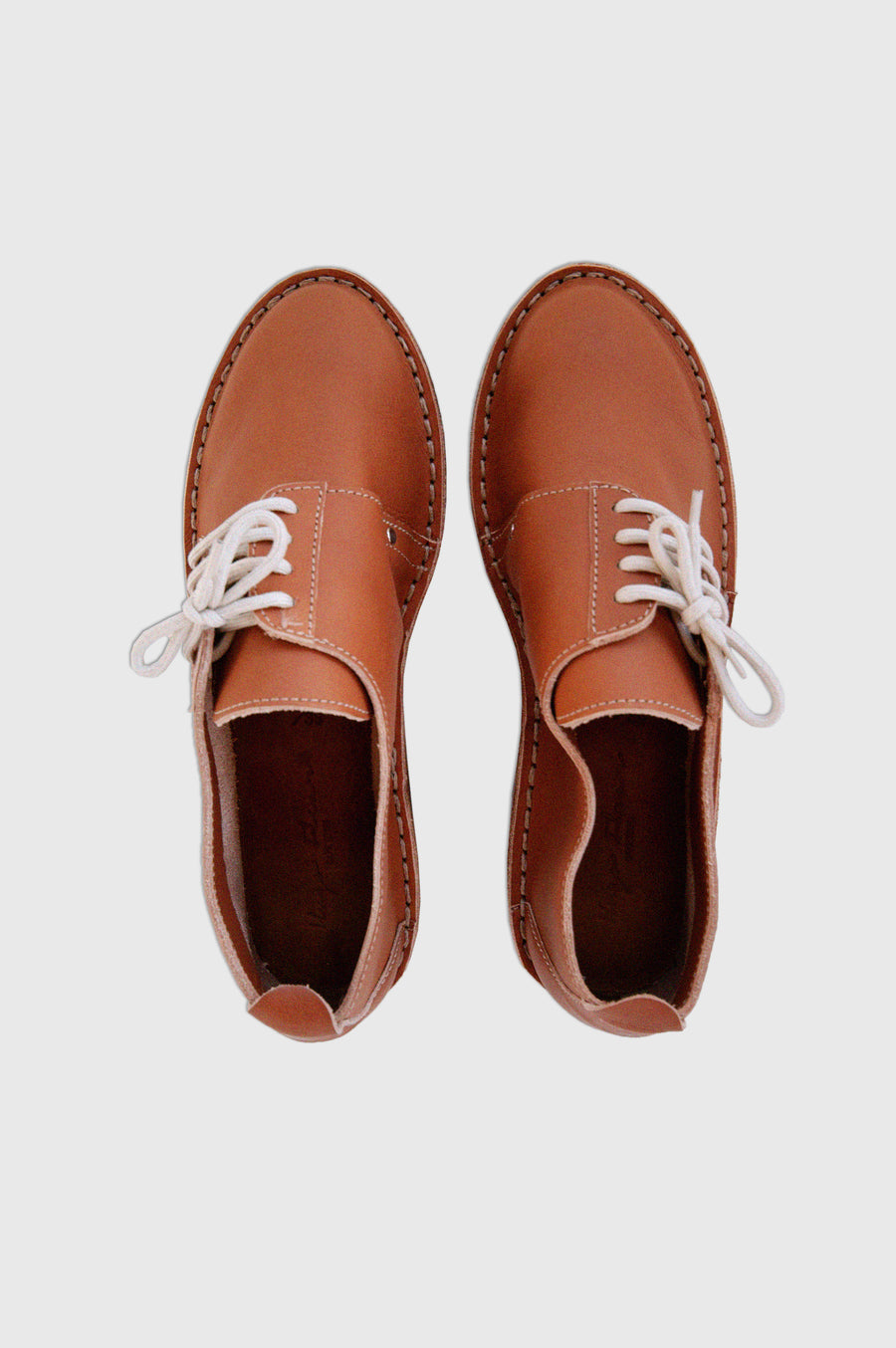 SHOES | SIDE LACE UP VELLIES | TAN