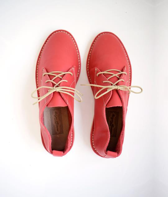 SHOES | STRAIGHT LACE VELLIES | RED