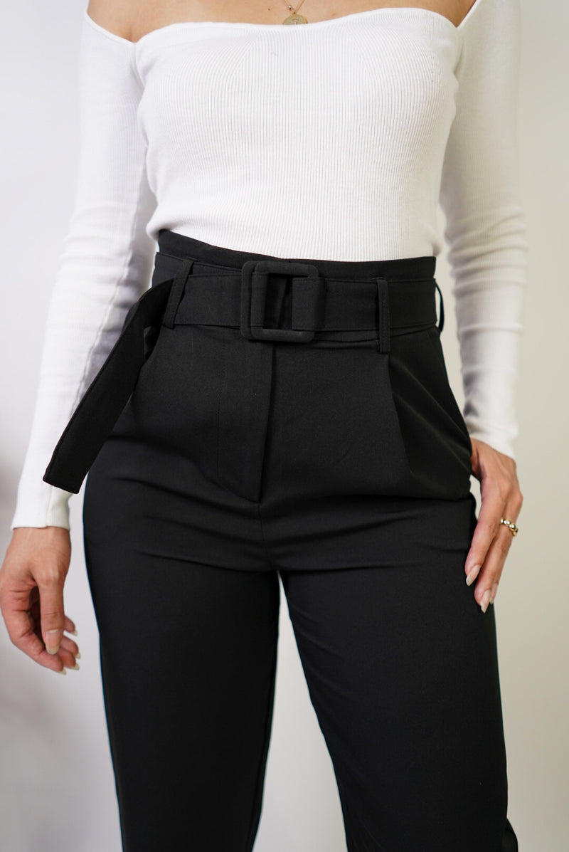 Powerful Straight Leg Belted Pants
