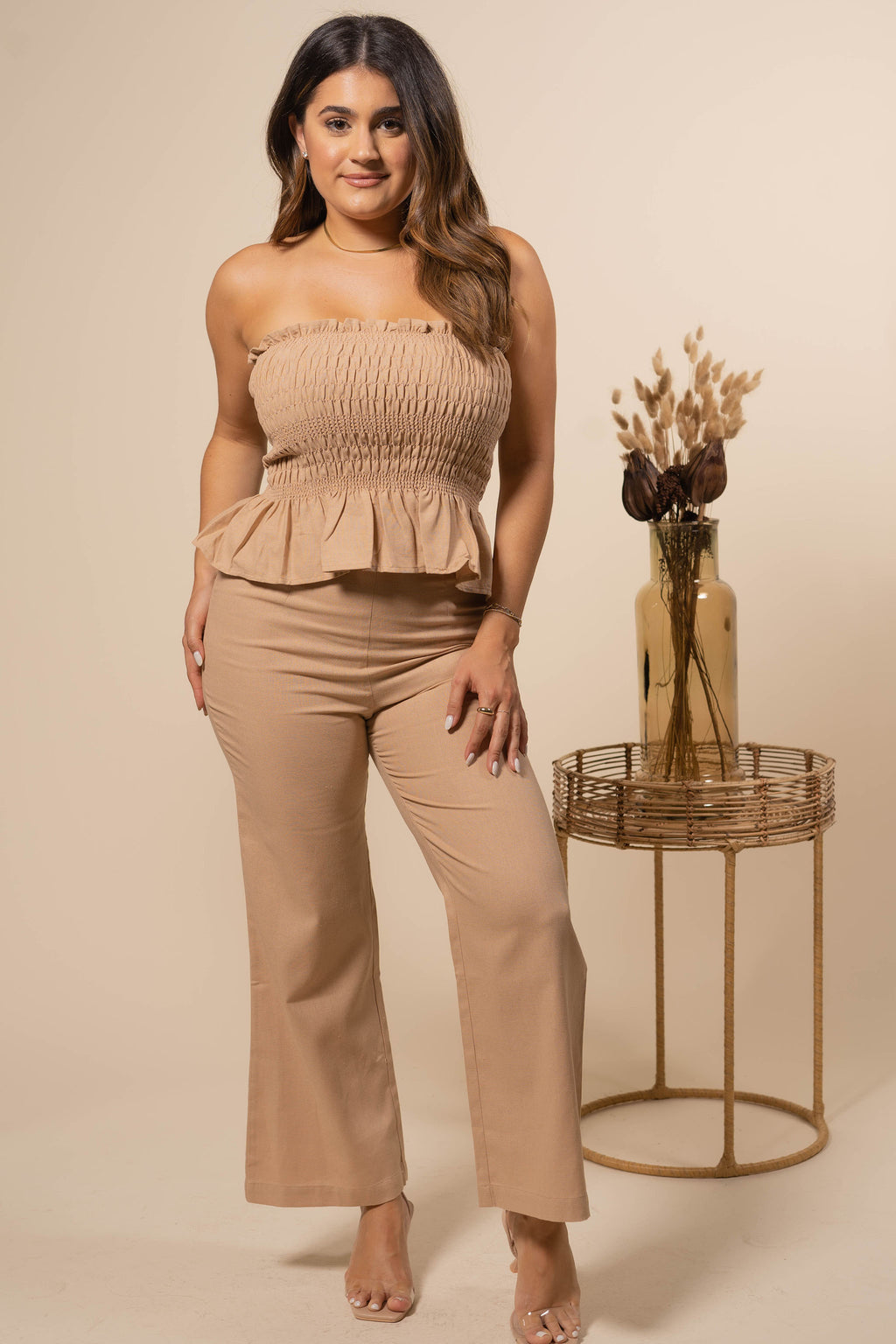 Paradise Nude Top + Pant Set
