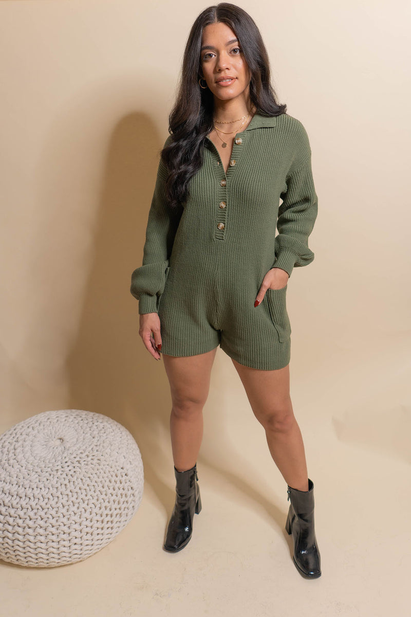 Loved Sweater Romper
