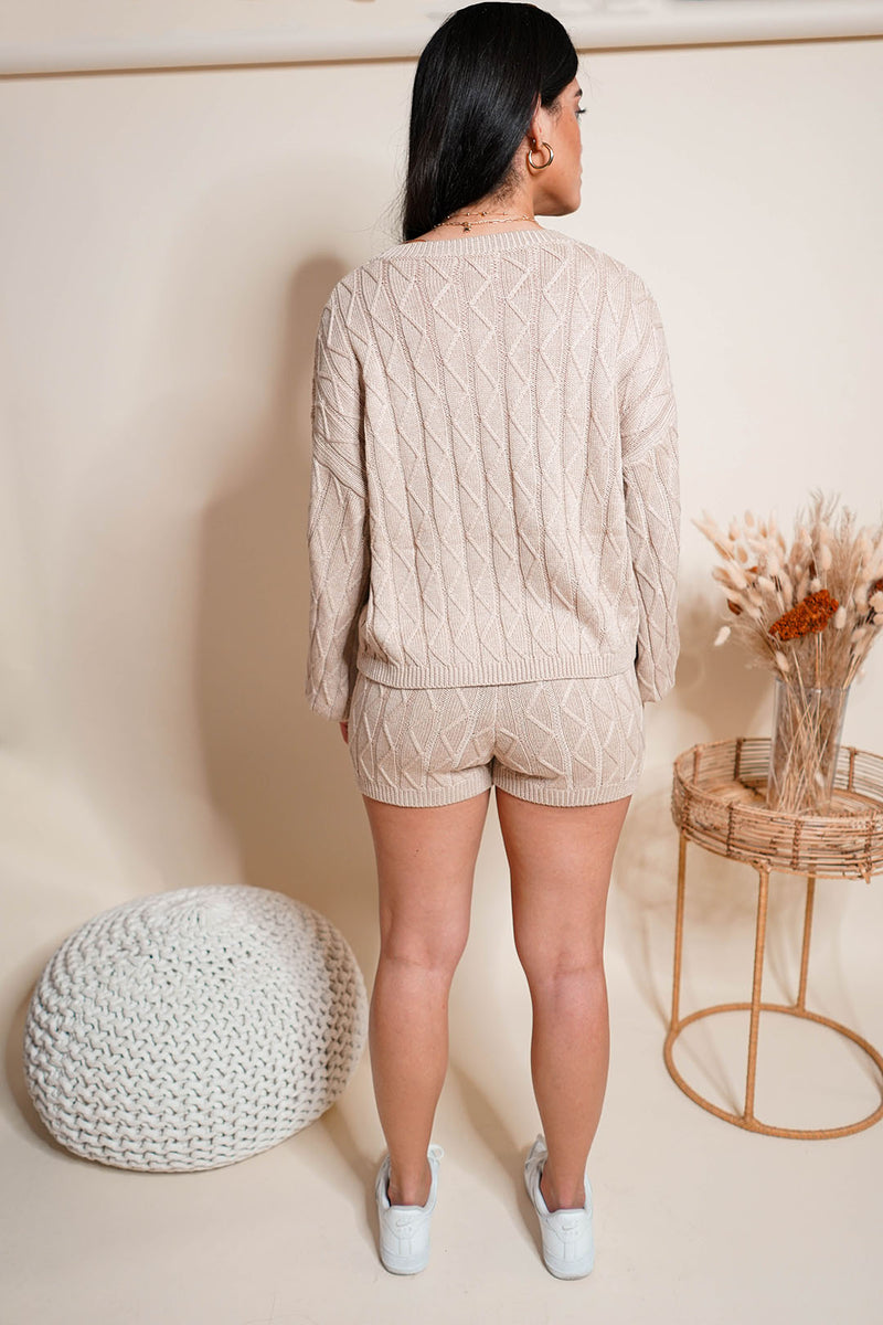 Presence Cable-Knit Sweater Set