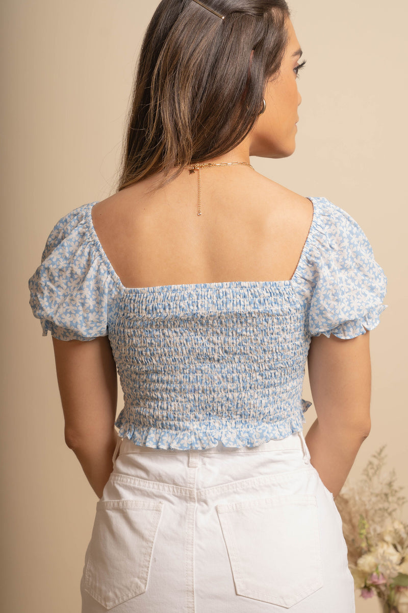 Blossom Smocked Top