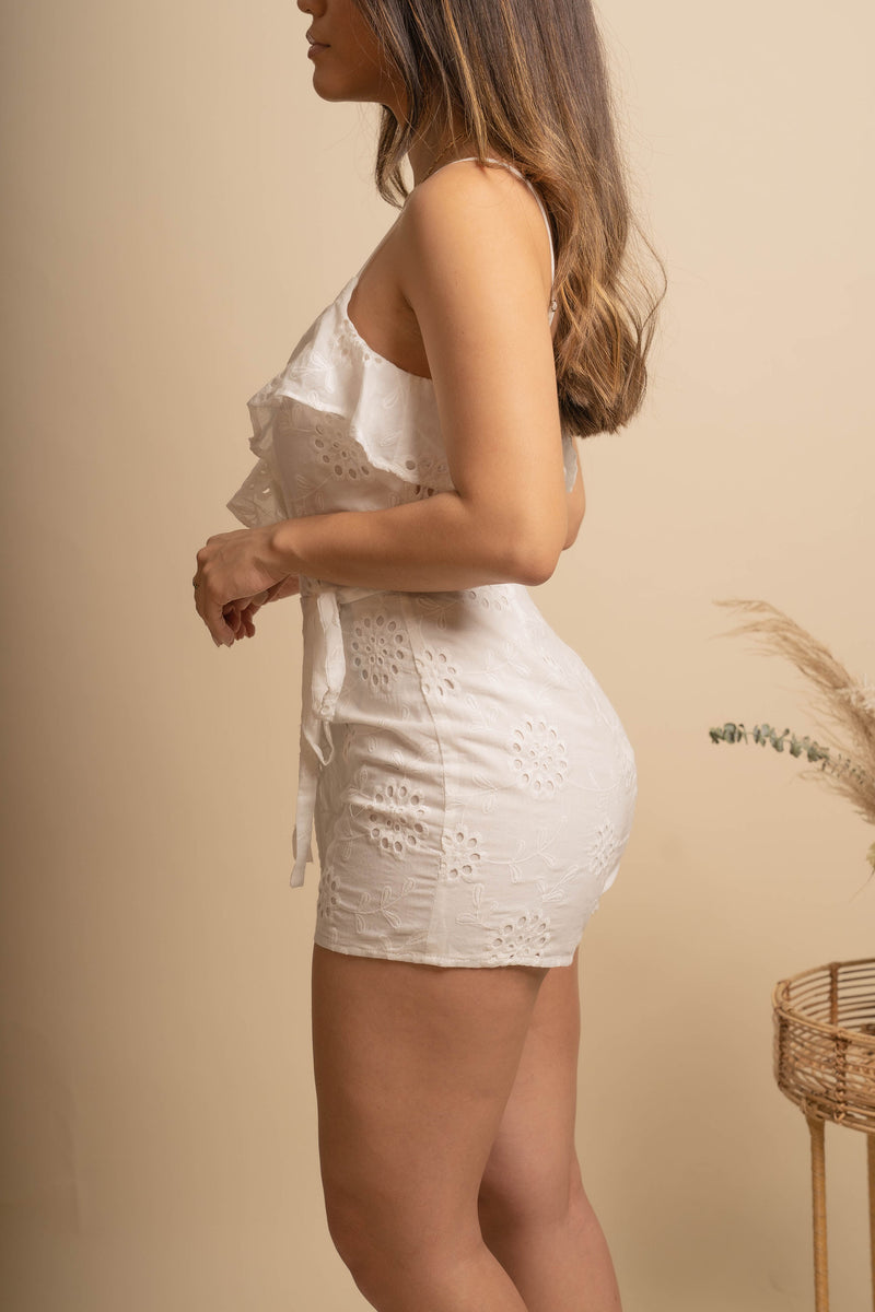 Purity Eyelet Romper