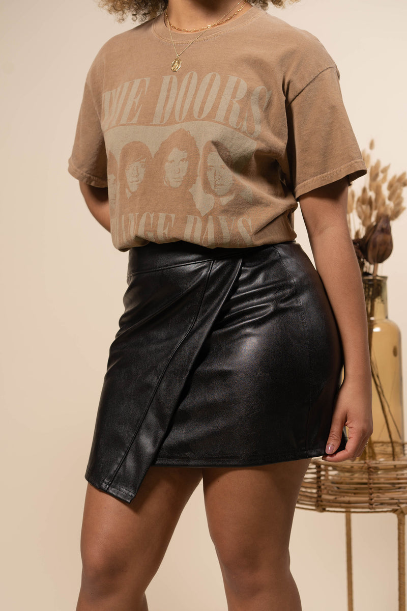 Promise Faux Leather Mini Skirt