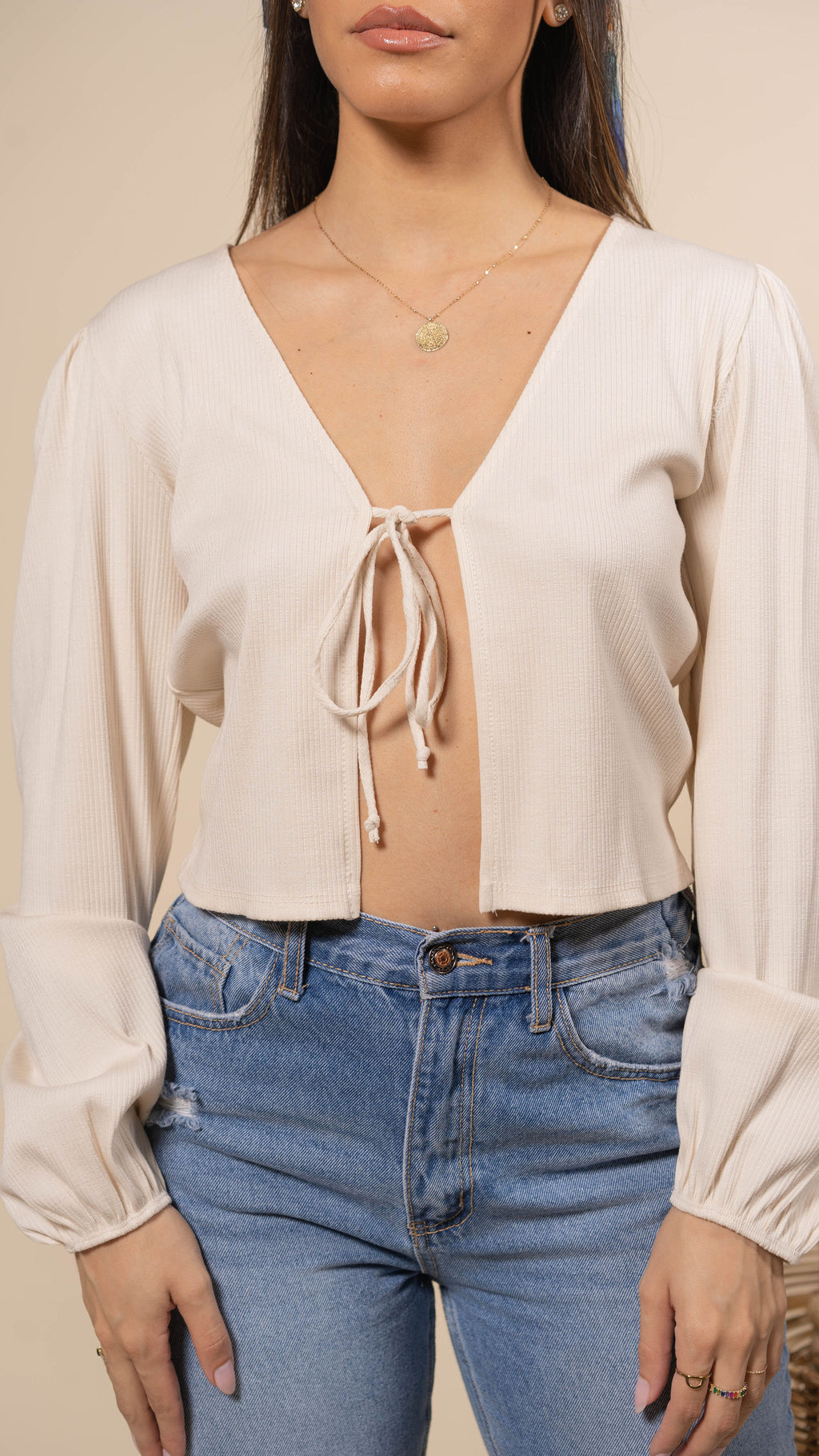 Amour Front Tie Blouse