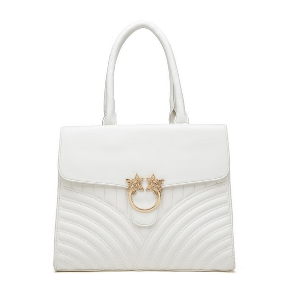 HONEY Bee Top Handle Bag White