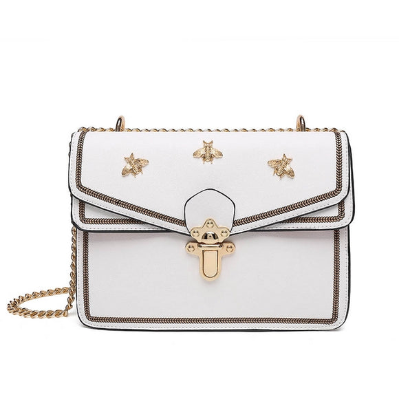 MEL Bee Shoulder Bag White