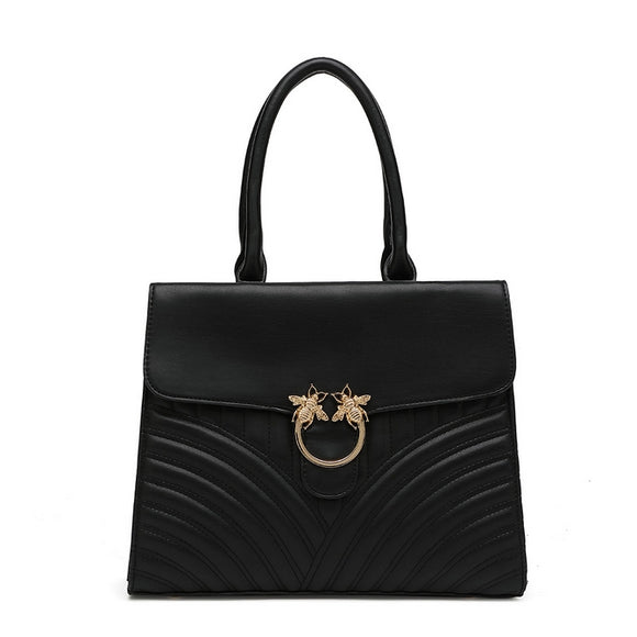 HONEY Bee Top Handle Bag Black