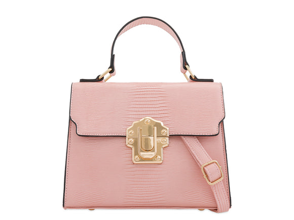 BROOKE Lizard Skin Tote Bag Pink