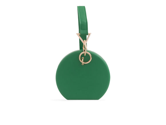 ROBYN Round Clutch Bag Green