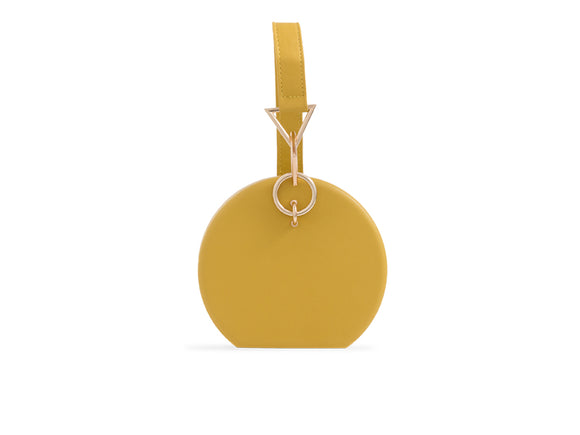 ROBYN Round Clutch Bag Mustard
