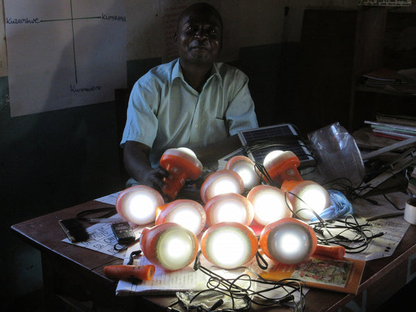 Solar lamps for St Martin school in Nambuma, Malawi, July 2015.