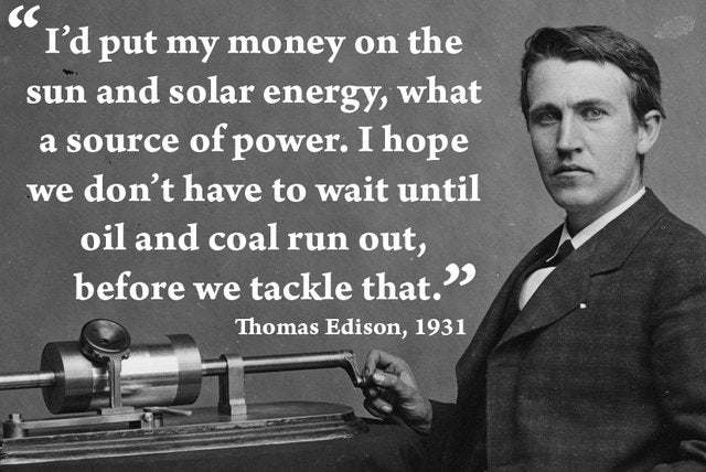Portable Solar Power Thomas Edison