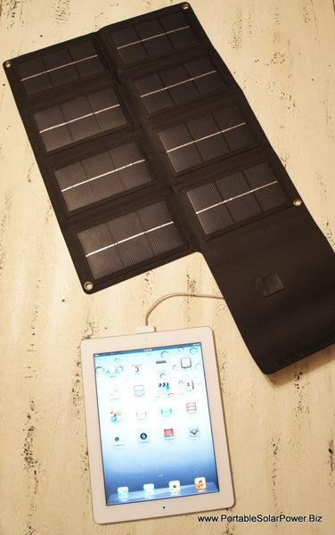 12 Watt Portable Solar USB Mobile Cell Phone Charger