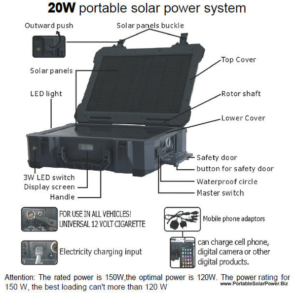 LiPo 16 Portable Solar Power Generator System
