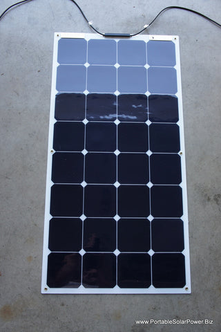 100w High Efficiency Sunpower Semi Flexible Non Glass Solar Panel