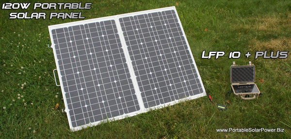 LFP 10 + Portable Solar Power System