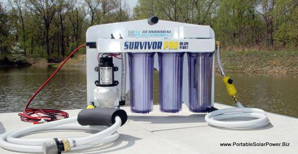 Solar Water Desalination System For Data Acquisition System : V portable survivor pro water purification system