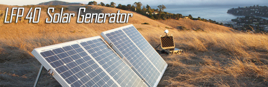 LFP 40v3 Portable Solar Power Generator System