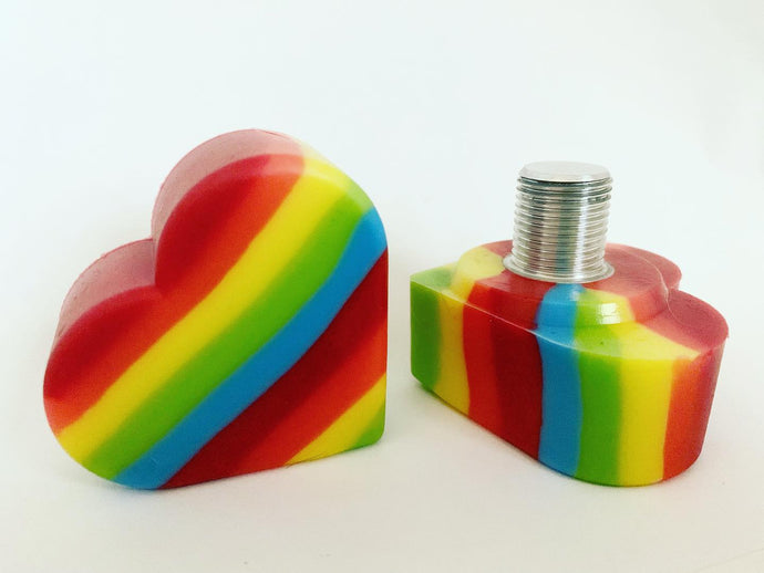rainbow heartstopper - long & short stem