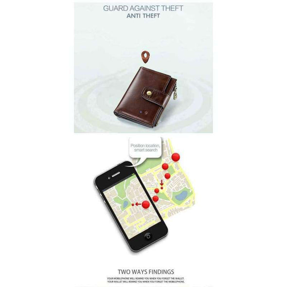 Genuine Leather Smart Wallet - Love Travel Share