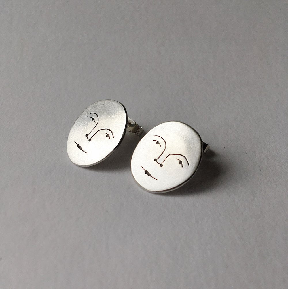 Polly Collins - Moon Face Studs